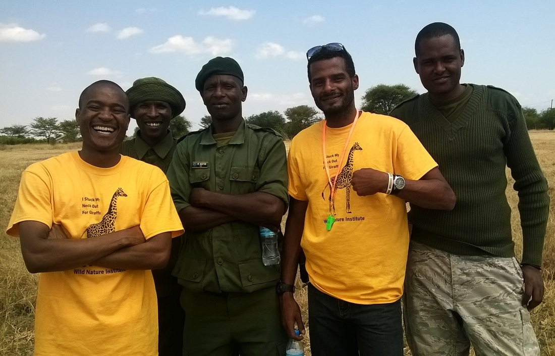 Picture of Giraffe Day organizers from PAMS and Burunge WMA rangers on Giraffe Day 2016, Wild Nature Institute