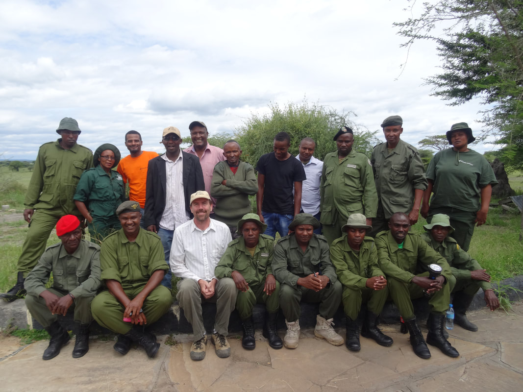 Picture of Village Game Scouts and Leadership of Burunge Wildlife Management Area. These rangers protect the wildlife and other natural resources within the community-based natural resource management zone.